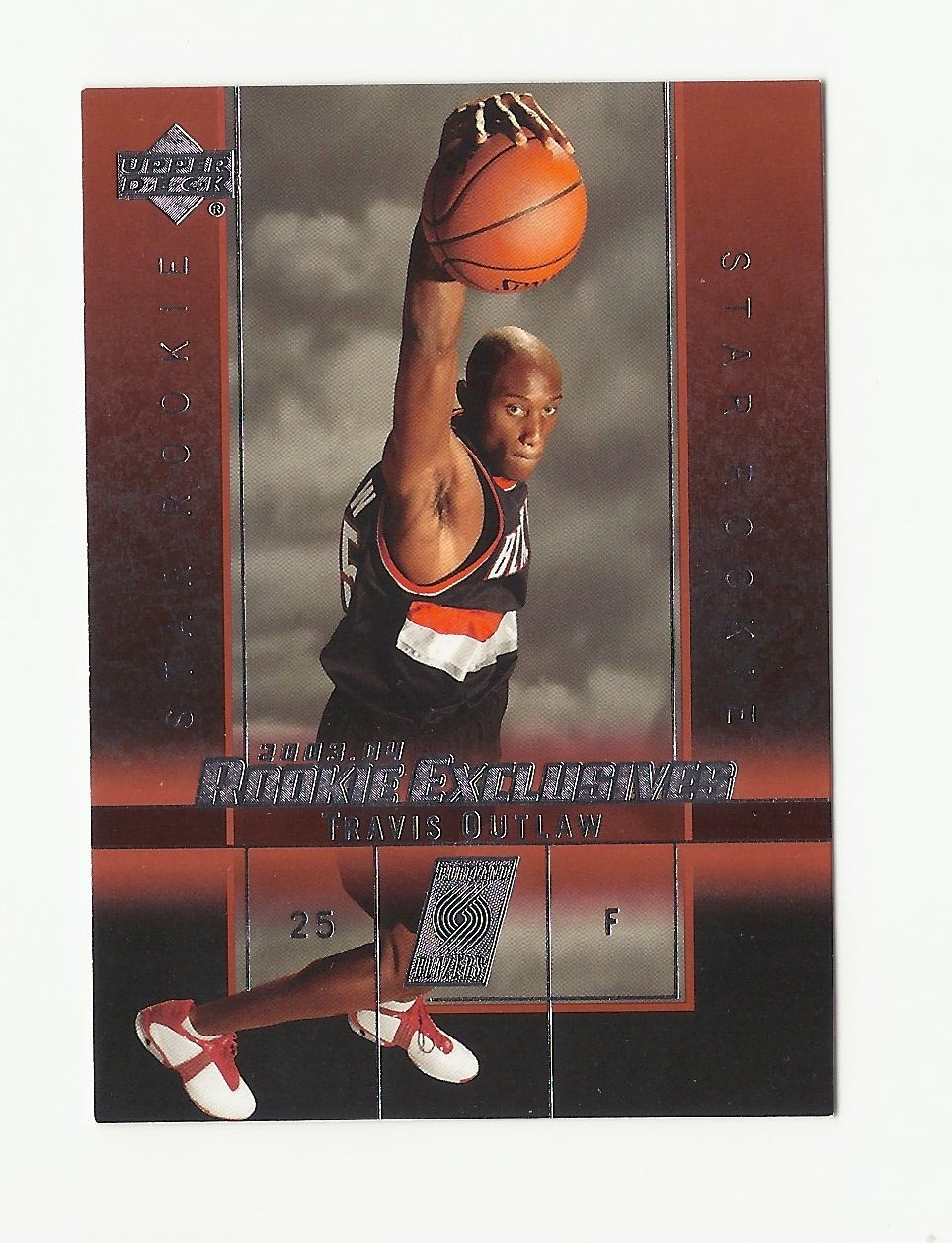 Travis Outlaw 2003 Upper Deck Rookie Exclusives #19 Portland Trailblazers/Sacramento Kings