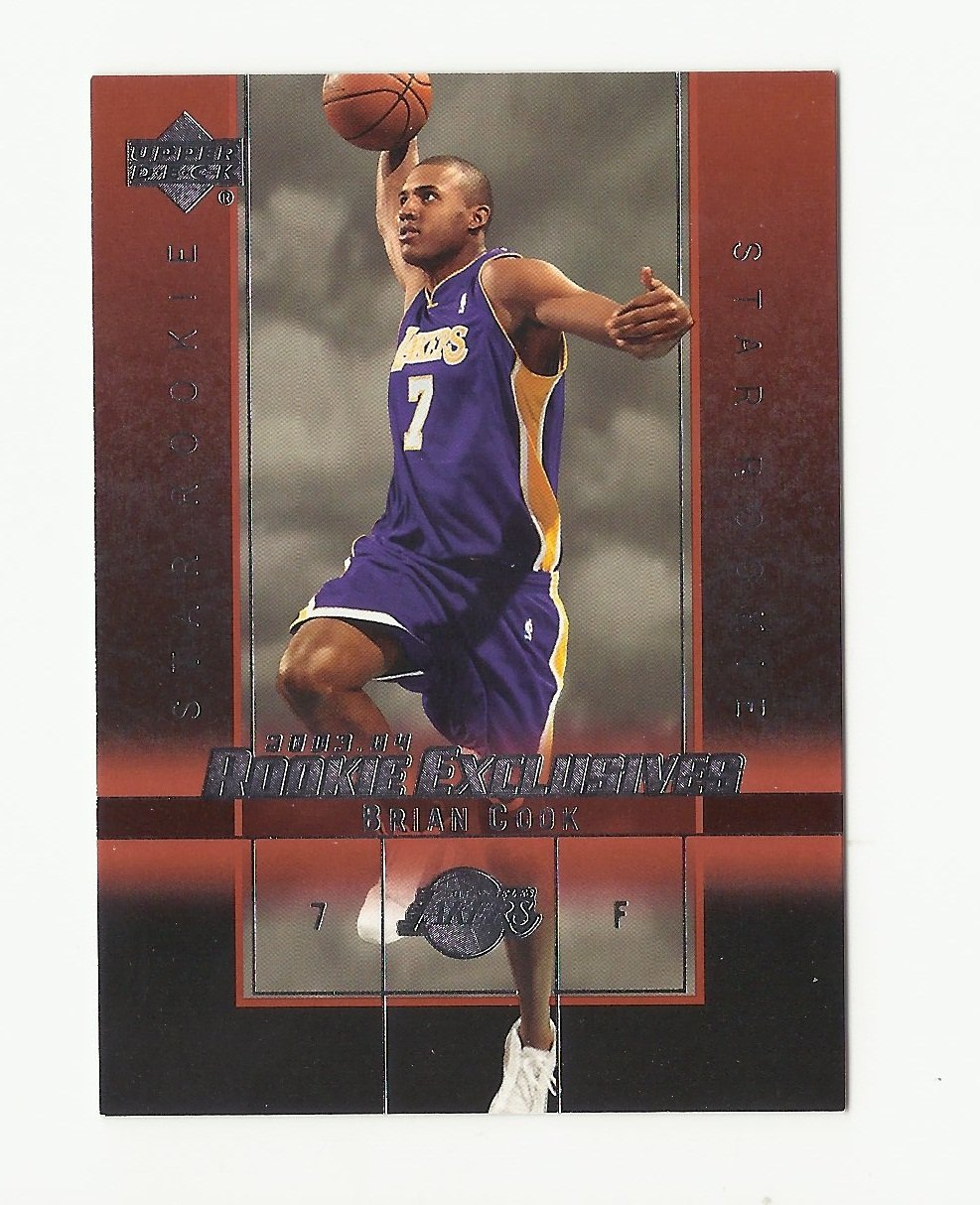 Brian Cook 2004 Upper Deck Rookie Exclusives Rookie Card #20 Los Angeles Lakers/Washington Wizards