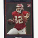 Dwayne Bowe 2007 Bowman Chrome Rookie Card #BC78 Kansas City Chiefs