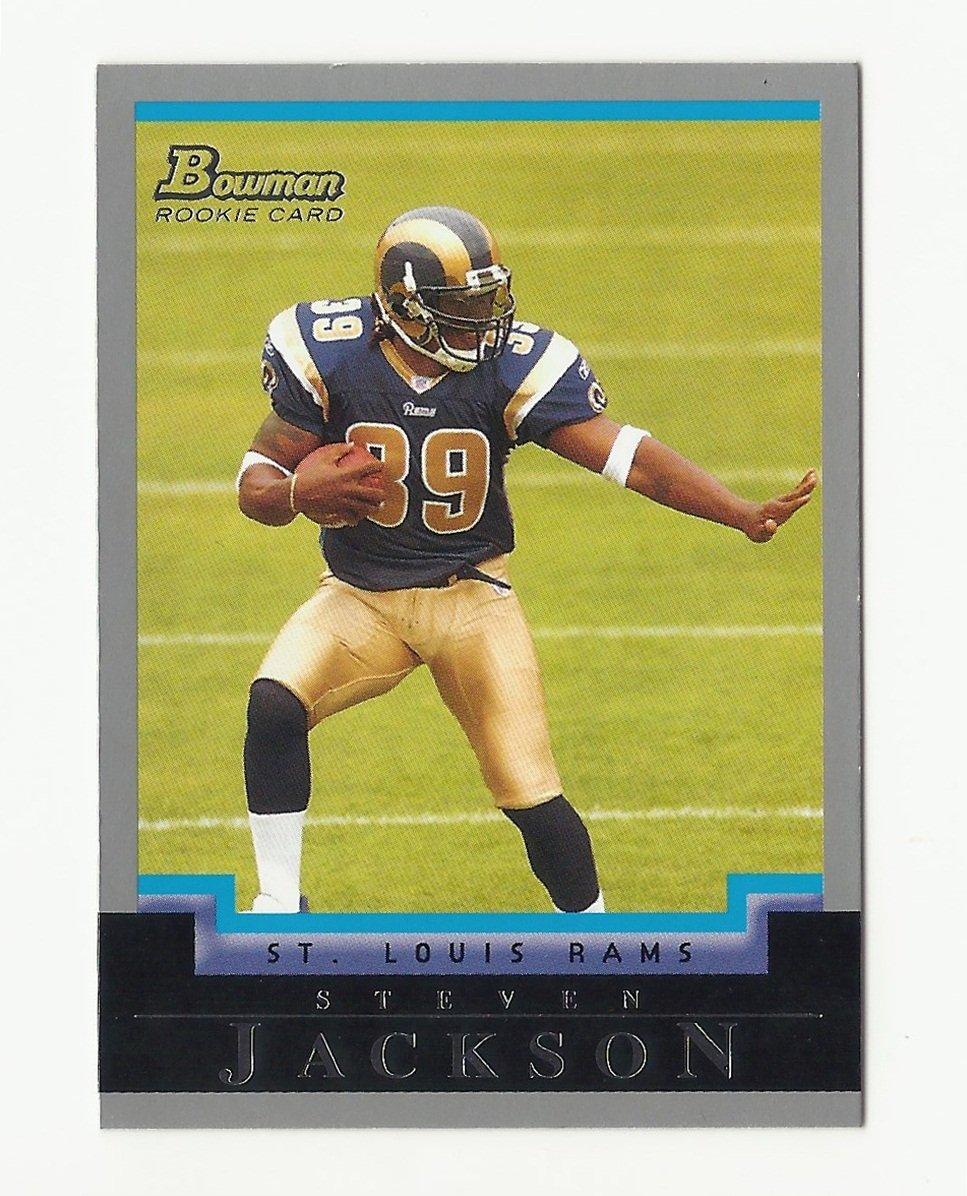 Steven Jackson 2004 Bowman Rookie Card #260 St. Louis Rams/Atlanta Falcons