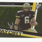 Jay Cutler 2006 Press Pass Paydirt Rookie Insert Card #PD5 Denver Broncos