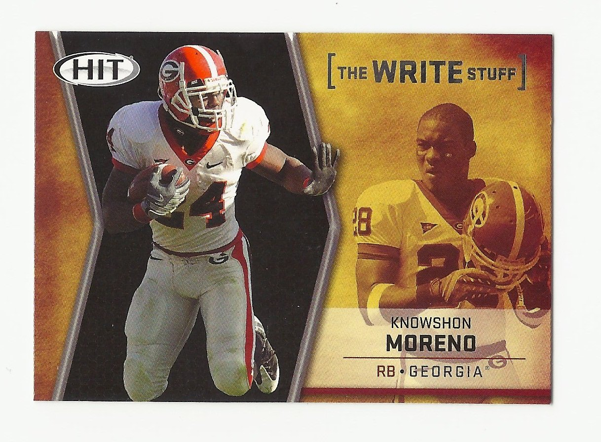 "Knowshon Moreno 2009 Sage HIT ""The Write Stuff"" Rookie Card Insert #17 Denver Broncos/Miami Dolphins"