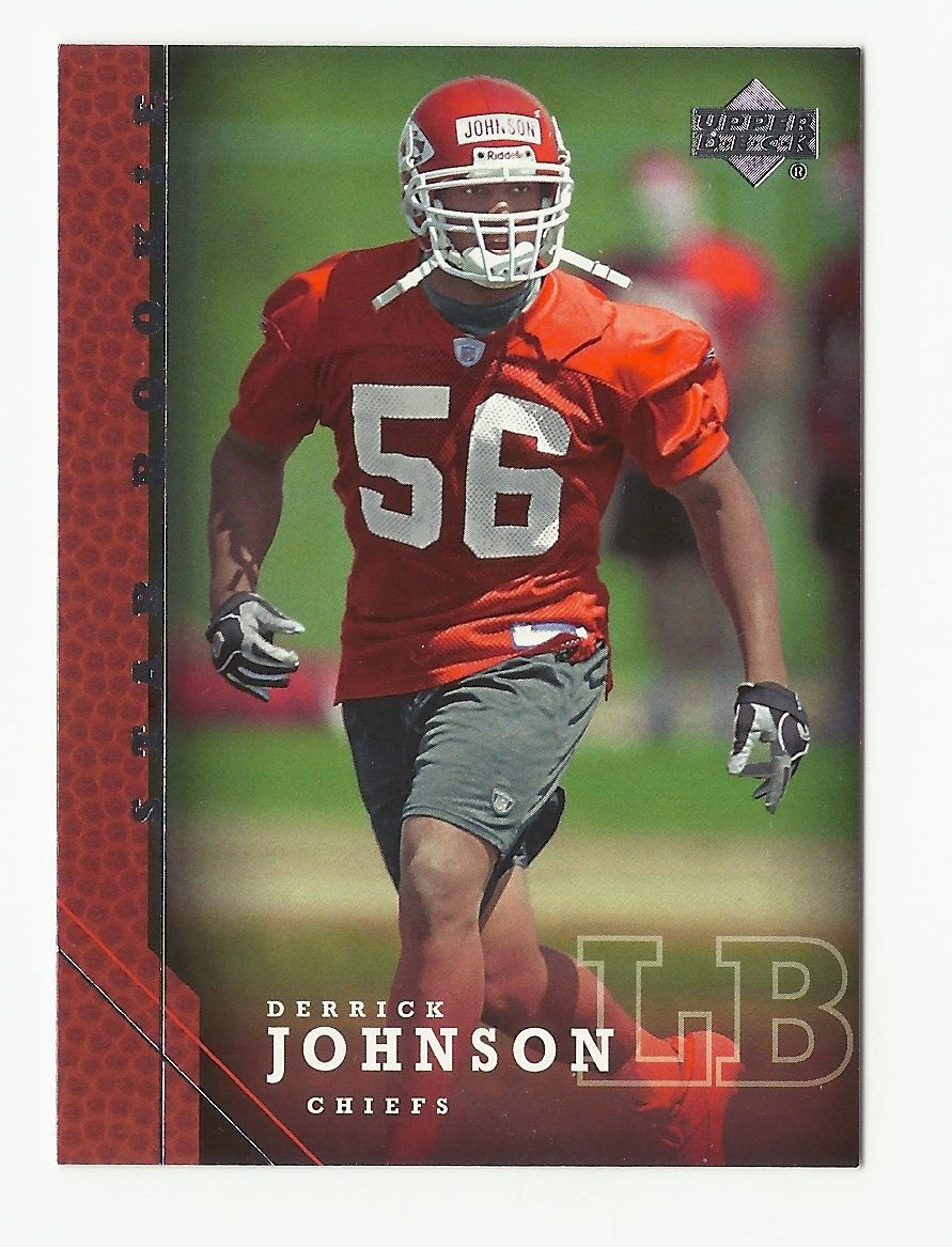 Derrick Johnson 2005 Upper Deck Star Rookie Card #241 Kansas City Chiefs