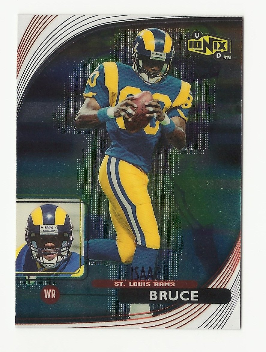 Isaac Bruce 1999 UD Ionix Insert Card #47 St. Louis Rams
