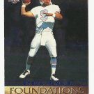 Steve McNair 1996 The Score Board Foundations Insert Card #F5 Tennessee Titans/Houston Oilers