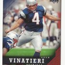Adam Vinatieri 2005 Upper Deck Single Card #113 New England Patriots
