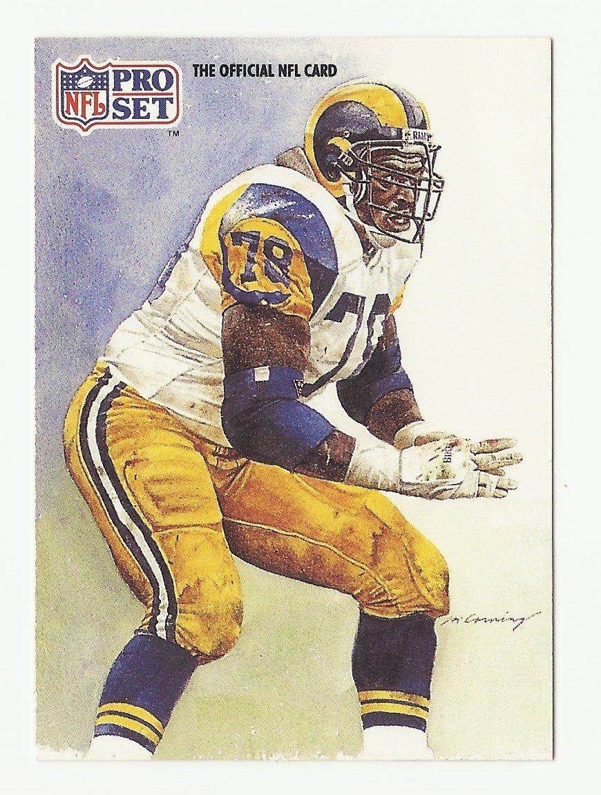 Jackie Slater 1991 Pro Set Single Card #382 St. Louis Rams