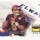 John Elway/Heath Shuler 1995 Skybox Mirror Image Single Card #154 Denver Broncos/Washington Redskins