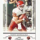 Tony Gonzalez 2008 Playoff Prestige Single Card #48 Kansas City Chiefs