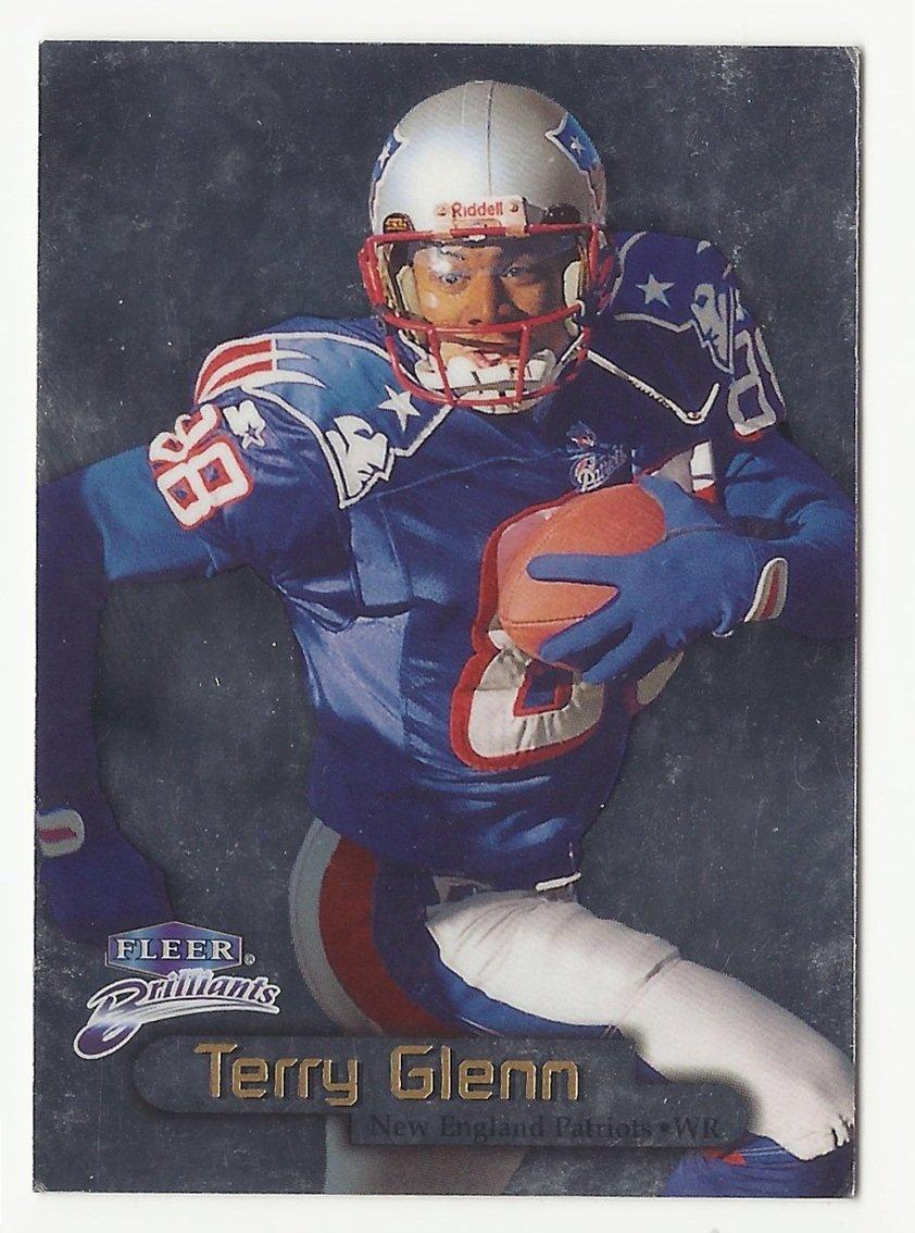 Terry Glenn 1998 Fleer Brilliants Rookie Card #47 New England Patriots