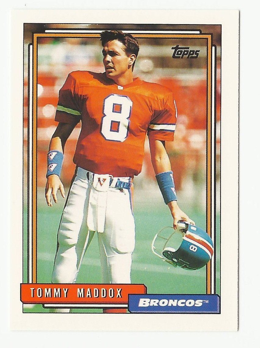 Tommy Maddox 1992 Topps Rookie Card #686 Denver Broncos