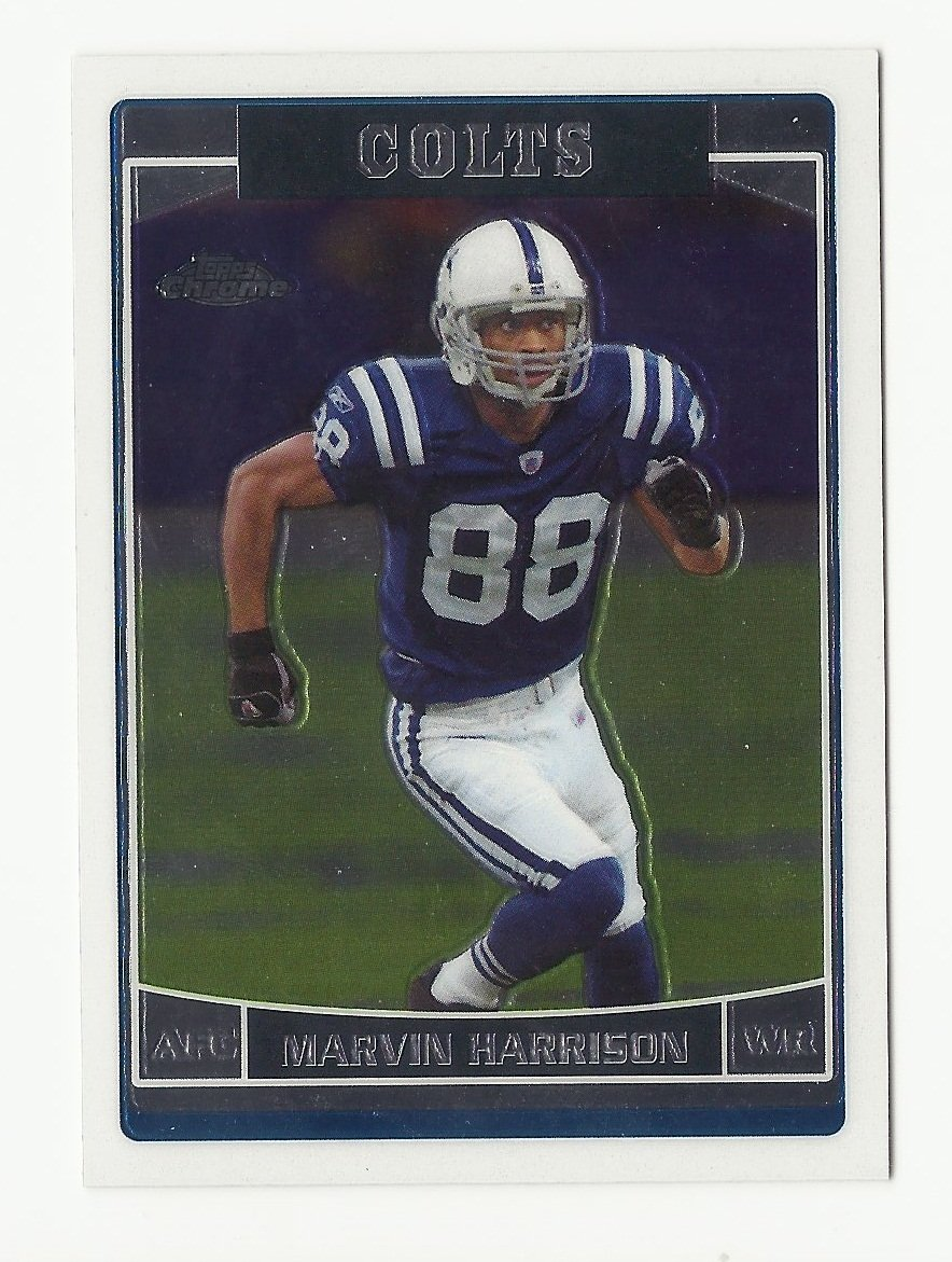 Marvin Harrison 2006 Topps Chrome Single Card #123 Indianpolis Colts