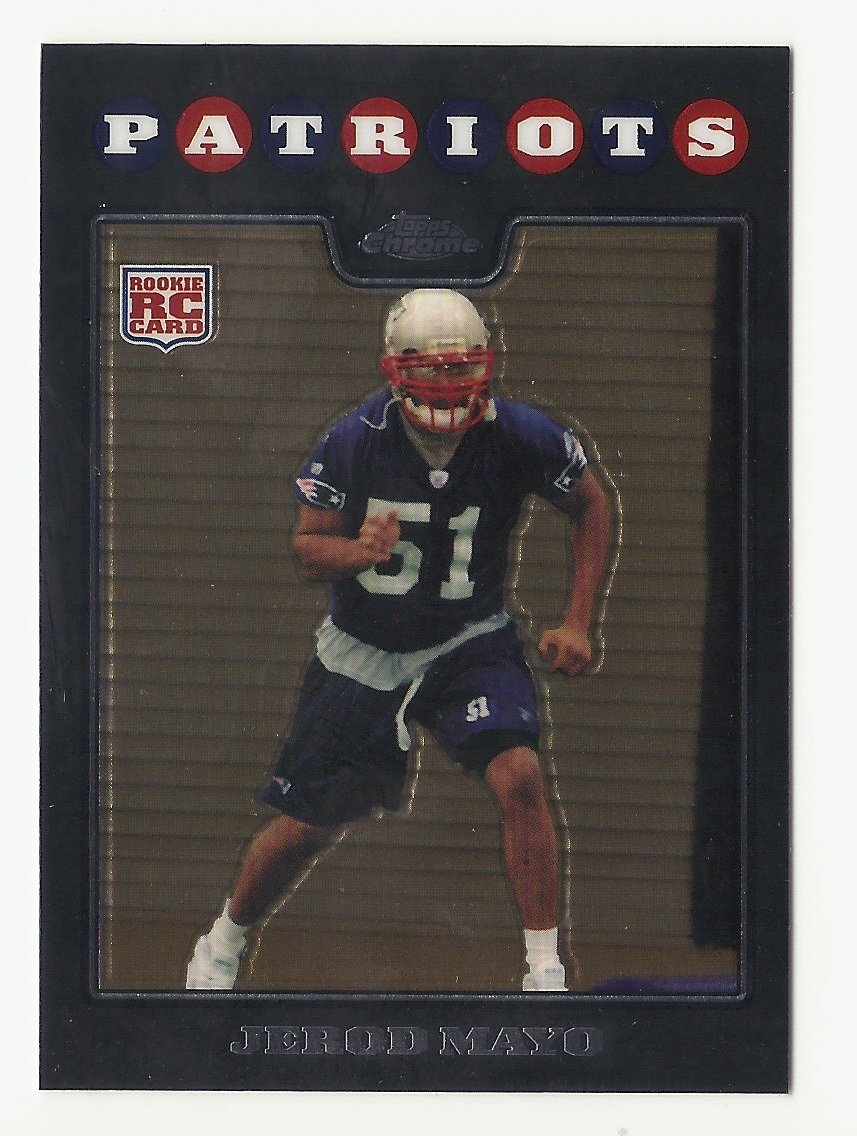 Jerod Mayo 2008 Topps Chrome Rookie Card #TC246 New England Patriots