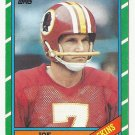 Joe Theismann 1986 Topps Single Card #171 Washington Redskins