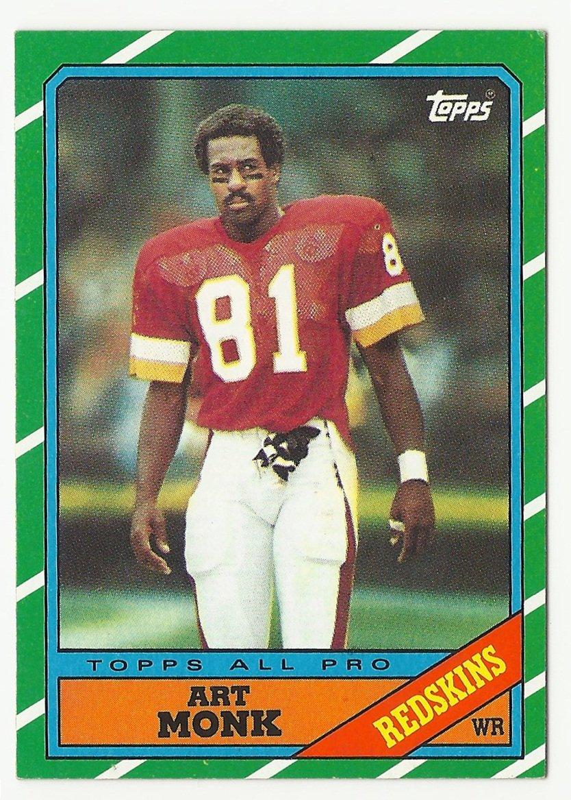 Art Monk 1986 Topps All Pro Single Card #175 Washington Redskins