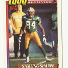 Sterling Sharpe 1991 Topps 1000 Yard Club Single Card #10 Green Bay Packers