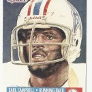 Earl Campbell 1991 Pro Set Single Card #27 Houston Oilers/Tennessee Titans