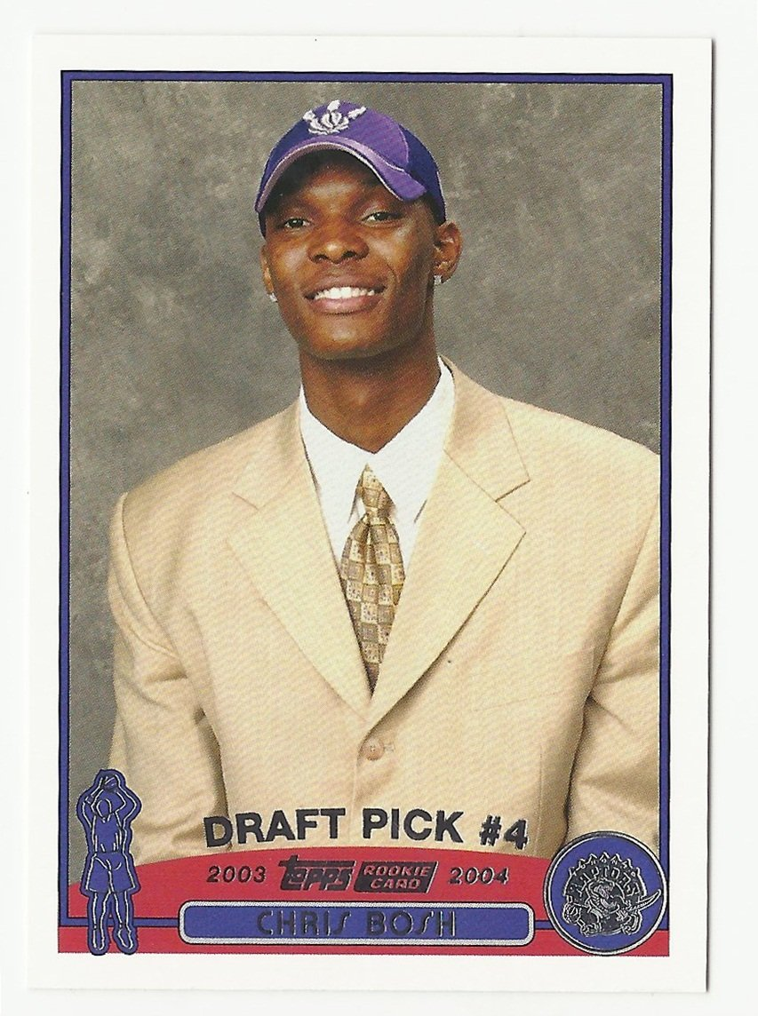 Chris Bosh 2003-04 Topps Rookie Card #224 Toronto Raptors