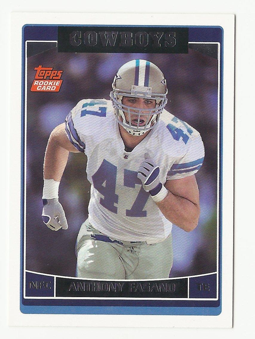 Anthony Fasano 2006 Topps Rookie Card #381 Dallas Cowboys/Kansas City Chiefs