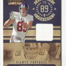 Kevin Boss 2010 Panini Threads Patch Card #14 (250/299) New York Giants/Oakland Raiders