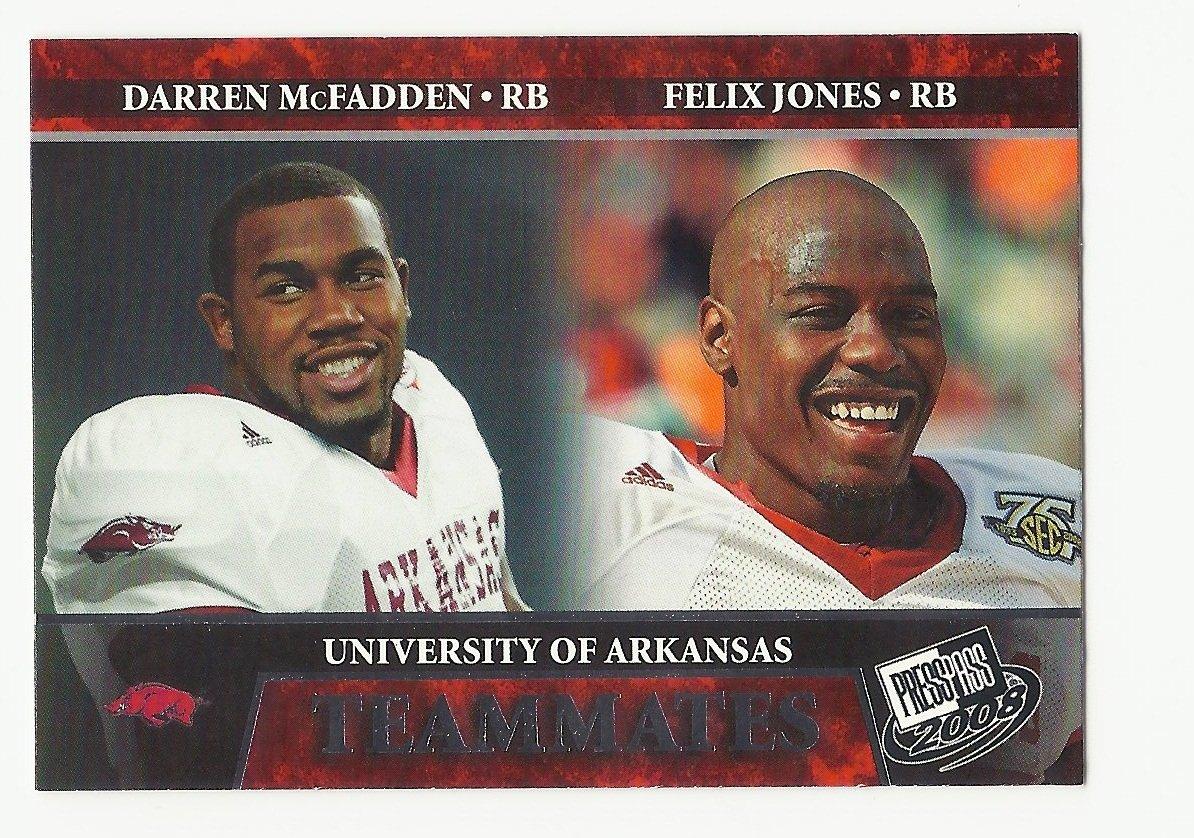 Darren McFadden/Felix Jones 2008 Press Pass Teammates Rookie Card #100 Raiders/Cowboys/Steelers
