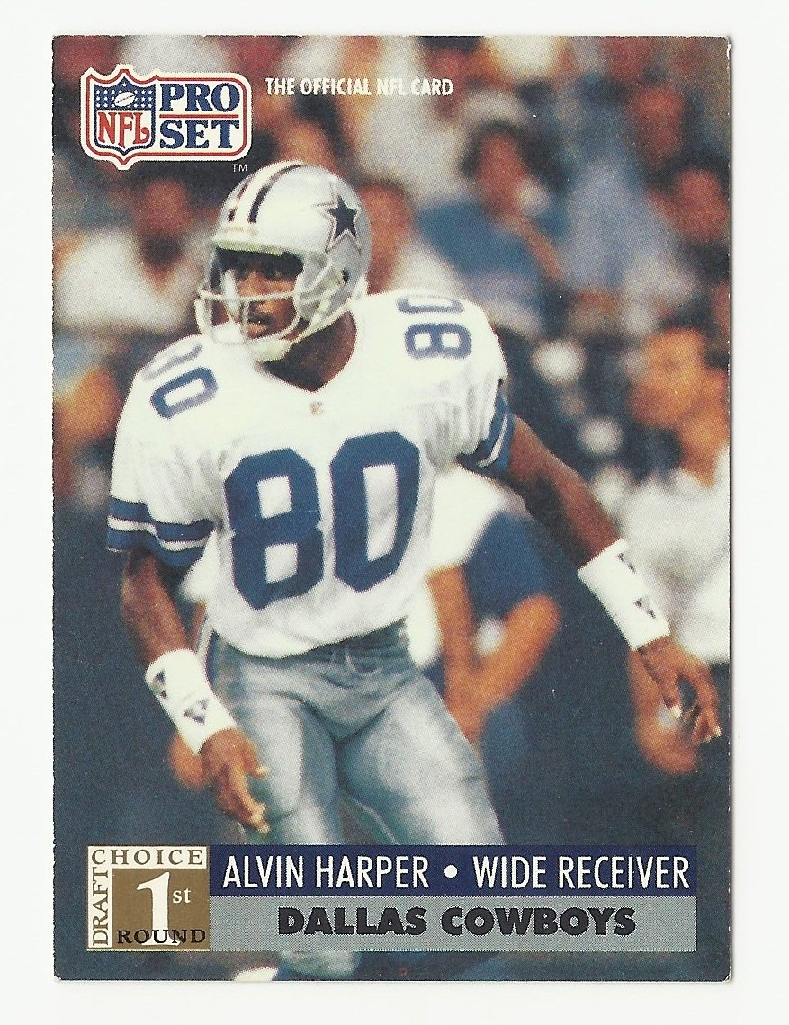 Alvin Harper 1991 Pro Set Rookie Card #741 Dallas Cowboys
