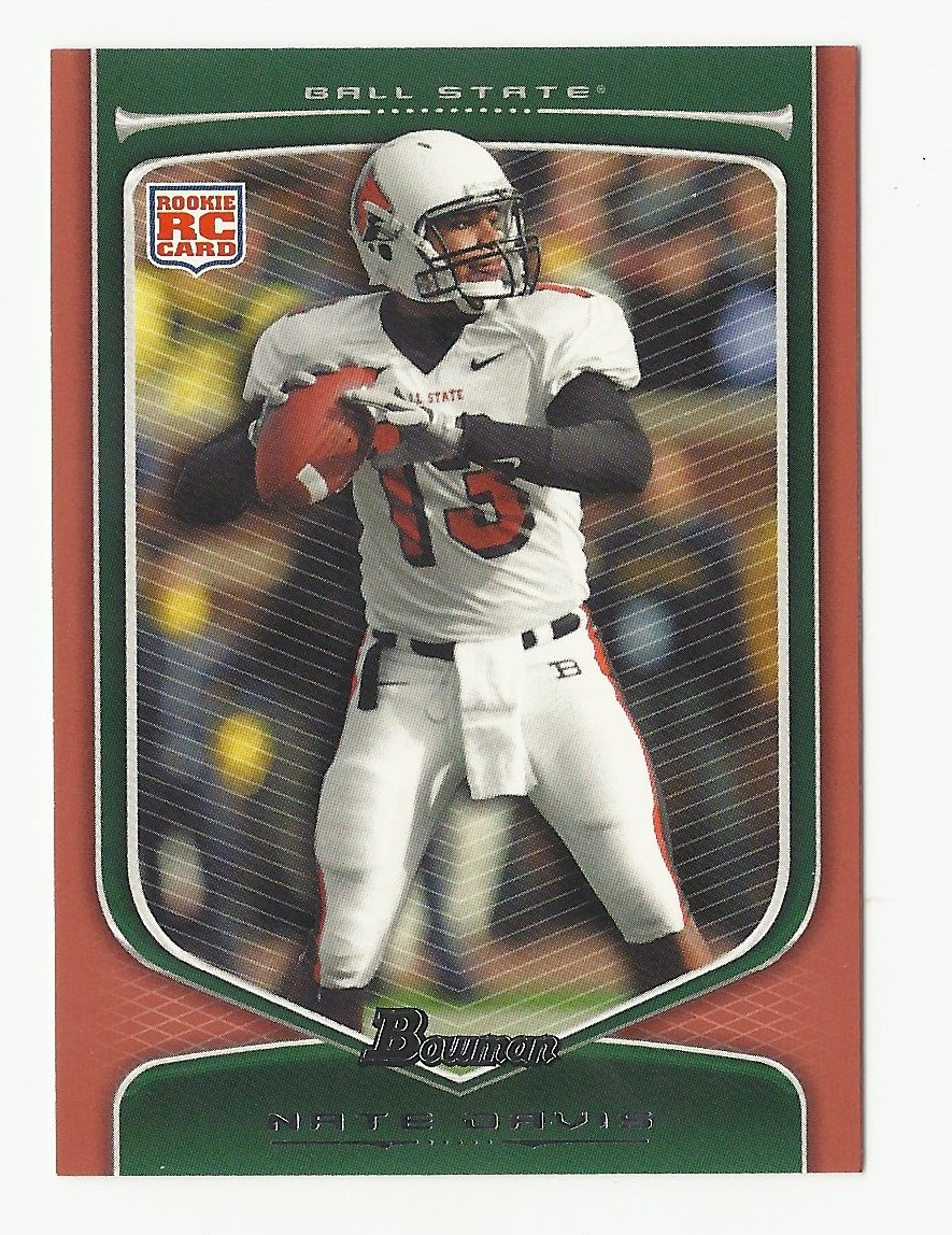 Nate Davis 2009 Bowman Draft Orange Rookie Card #200 San Francisco 49ers