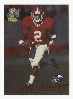 David Palmer 1994 Classic  NFL Draft Rookie Card #16 Minnesota Vikings