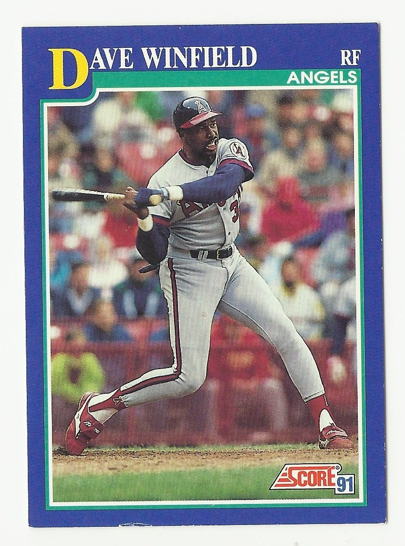 Dave Winfield 1991 Score Single Card #83 Los Angeles/Anaheim Angels