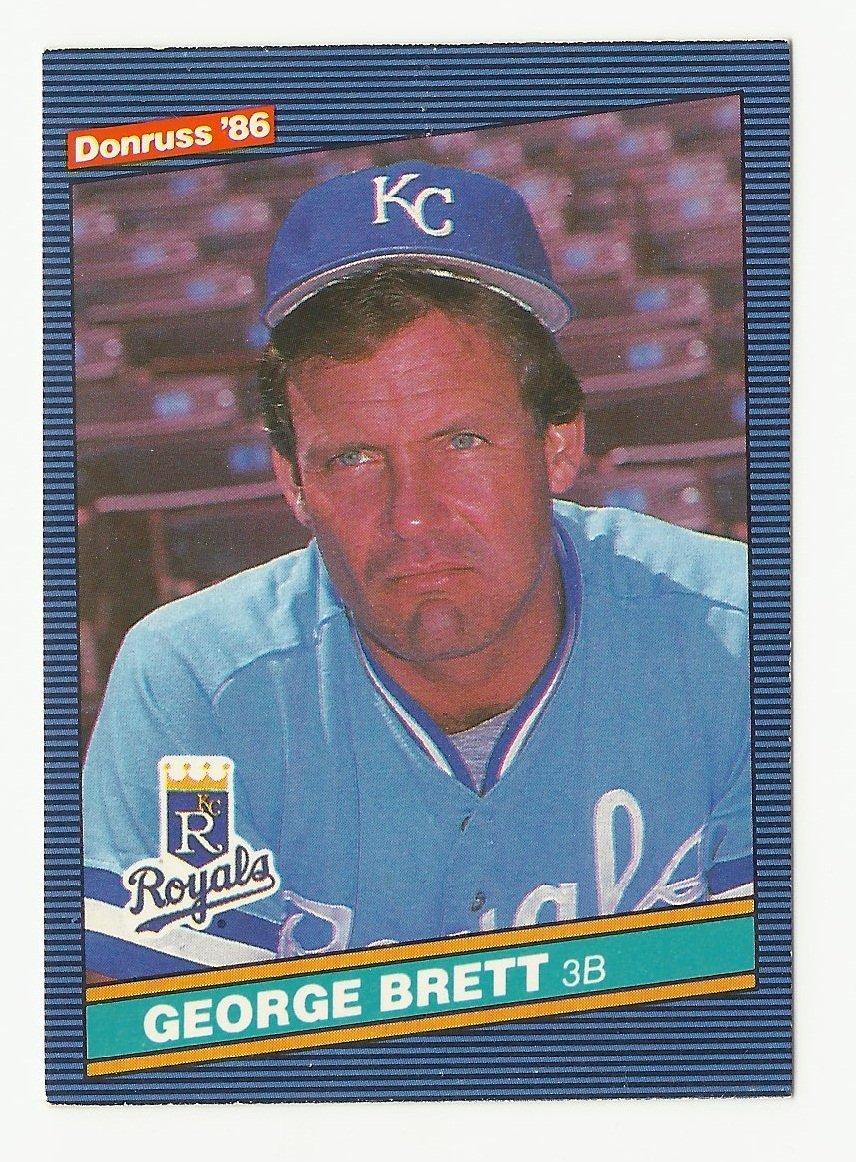 George Brett 1986 Donruss Single Card #53 Kansas City Royals