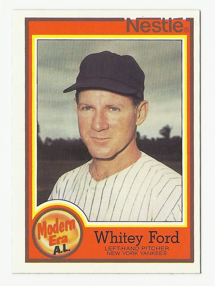 Whitey Ford 1987 Topps Nestle Modern Era Card #21 New York Yankees