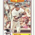 Willie Randolph 1988 Topps Glossy All Stars Insert Card #3 New York Yankees