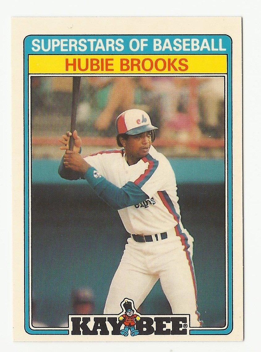 Hubie Brooks 1987 Kay Bee Superstars of Baseball Card #6 Montreal Expos/Washington Nationals