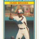 Hubie Brooks 1987 Kay Bee Superstars of Baseball Card #6 Montreal Expos/Washington Nationals
