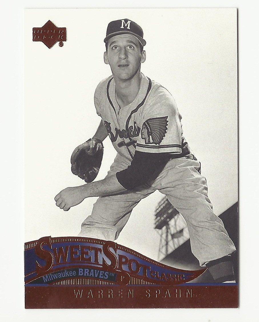 Warren Spahn 2005 Sweet Spot Classic Card #94 Milwaukee/Atlanta Braves