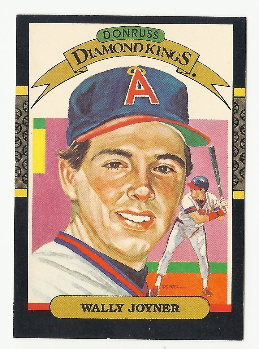 Wally Joyner 1986 Donruss Diamond Kings Card #1 Los Angeles/Anaheim Angels