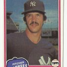 Ron Guidry 1981 Topps Single Card #250 New York Yankees