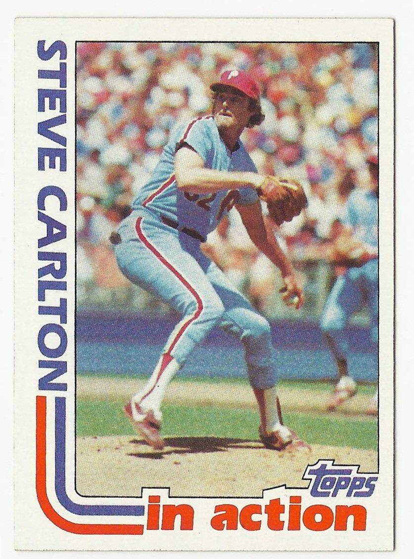 Steve Carlton 1982 Topps In Action Card #481 Philadelphia Phillies