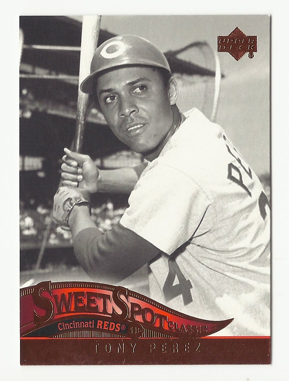 Tony Perez  2005 Upper Deck Sweet Spot Classic Card #90 Cincinnati Reds