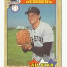 Roger Clemens 1987 Topps All Star Card #614 Boston Red Sox