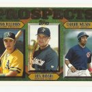Mark Bellhorn/Russ Johnson/Enrique Wilson 1997 Topps Prospects Rookie #487 Athletics/Astros/Indians