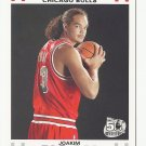 Joakim Noah 2007-08 Topps 50th Anniversary White Rookie Card #9 Chicago Bulls
