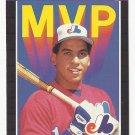 Andres Galarraga 1989 Donruss MVP Single Card #BC-16 Montreal Expos/Washington Nationals