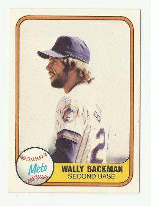 Wally Backman 1981 Fleer Single Card #336 New York Mets