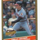 Wally Joyner 1986 Donruss Highlights Rookie Card #23 Los Angeles/Anaheim Angels