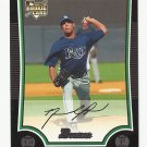 David Price 2009 Bowman Rookie Card #213 Tampa Bay Rays
