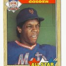 Dwight Gooden 1987 Topps All-Star Card #603 New York Mets