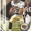 Reggie Bush 2010 Panini Gridiron Gear Card #94 New Orleans Saints/Detroit Lions