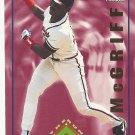 Fred McGriff 1994 Pinnacle The Run Creators Card #RC26 Atlanta Braves