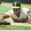 Rickey Henderson 1994 Pinnacle Card #450 Oakland Athletics